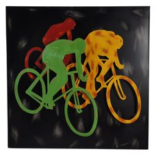 Metal Bikers Wall Decor