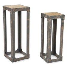 2 Piece Urbane Pedestal Plant Stand Set