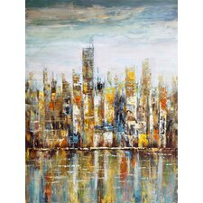 Downtown Painting Print on Canvas
