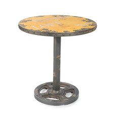 Round Wheel End Table