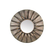 <strong>Moe's Home Collection</strong> Distressed Round Iron Mirror