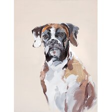 Brown Dog Painting Print on Canvas