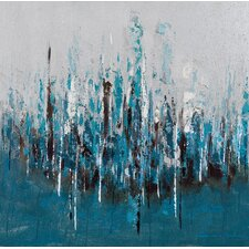 Blue Wash Painting Print on Canvas