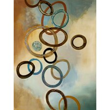 Connected Rings Painting Print on Canvas