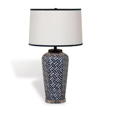 "Geo 27"" H Table Lamp with Empire Shade"