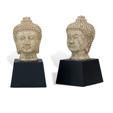Zen Buddha Book Ends (Set of 2)