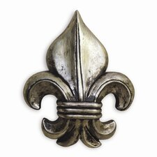 Fleur De Lis Wall Ornament in Silver (Set of 5)