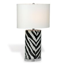 """Kenya Oval 28"""" H Table Lamp with Drum Shade"""