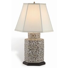 "Double Flower 23"" H Table Lamp with Empire Shade"