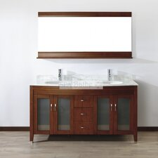 "Alfa 63"" Double Bathroom Vanity Set"