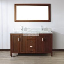 "<strong>Bauhaus Bath</strong> Jacchi 60"" Double Bathroom Vanity Set"