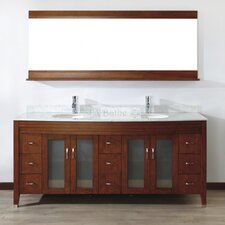 "Alfa 75"" Double Bathroom Vanity Set"