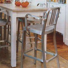 "Navy 24"" Barstool with Arms"