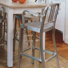 "Navy 30"" Barstool with Arms"