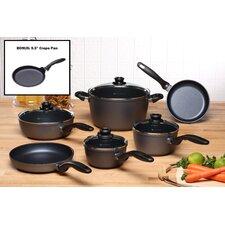10-Piece Cookware Set with BONUS Crepe Pan!