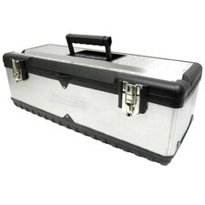 26 Stainless Steel Toolbox W/ Tray