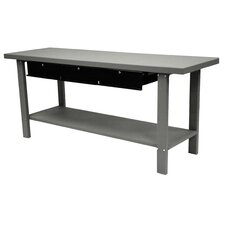 79 Indust Gray Workbench W/ 3 Drwrs