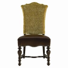 <strong>Stanley Furniture</strong> Grand Continental Padrona Leather Side Chair