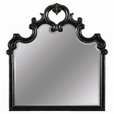 Costa Del Sol Aldaba Carved Mirror in Black