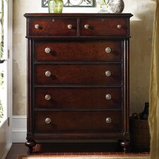 The Classic Portfolio British Colonial 6 Drawer Chest