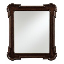 European Farmhouse  Rounded Captains Fluted Edge Mirror