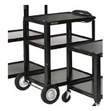 High Open Shelf AV Cart
