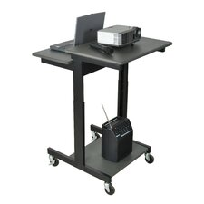Mobile Adjustable Height Computer Workstation