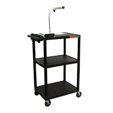 "<strong>Luxor</strong> 42"" High AV Cart in Black"