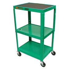 Adjustable Height  Open Shelf Table
