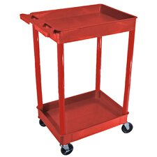 <strong>Luxor</strong> Tub Utility Cart in Red