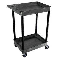 "<strong>Luxor</strong> 39"" 2 Tub Shelf Utility Cart"
