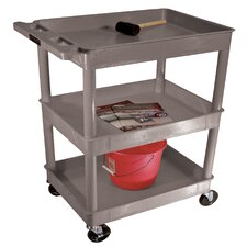 <strong>Luxor</strong> Three Tub Shelf Utility Cart