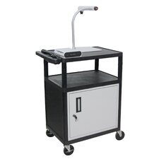"<strong>Luxor</strong> 34"" High,  AV Cart Table with Locking Cabinet/Electric"