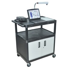 LP Series AV Cart with Locking Cabinet/Electric