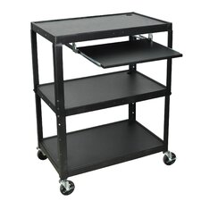 Extra Wide AV Cart with Keyboard Tray
