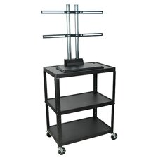 Extra Wide Flat Panel C Cart