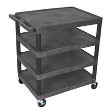 "<strong>Luxor</strong> 37.75"" 4 Shelf Utility Cart"