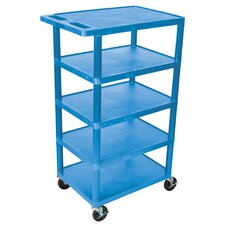 "<strong>Luxor</strong> 46"" 5 Shelf Utility Cart"