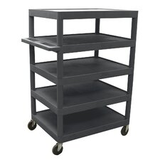 "<strong>Luxor</strong> 48"" 5 Shelf Banquet Cart"