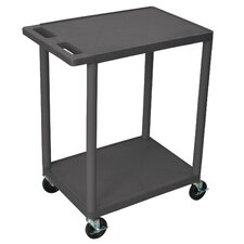 "<strong>Luxor</strong> 33.5"" 2 Shelf Utility Cart"