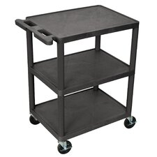 <strong>Luxor</strong> 32.5'' 3 Shelf Utility Cart