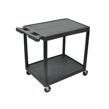 34.25'' 2 Shelf Utility Cart