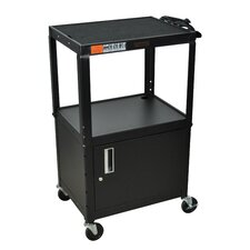 H Wilson Adjustable Height Cabinet AV Cart