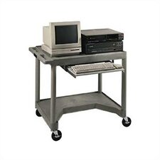 Interactive Video Cart with Pull-Out Keyboard Shelf