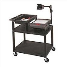 Stand-Up AV Overhead Projector Cart with Top Shelf Storage Tray (Set of 4)