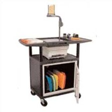 Stand-Up Overhead Projector Cart with Cabinet (Set of 4)