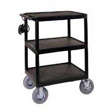 Open Shelf Endura Video Cart with Pneumatic Tires