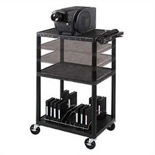 Height Adjustable AV Cart in Black