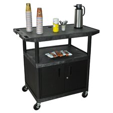 <strong>Luxor</strong> Wide Top Coffee Cart with Cabinet