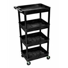 "<strong>Luxor</strong> 47"" 4 Tub Shelf Utility Cart"